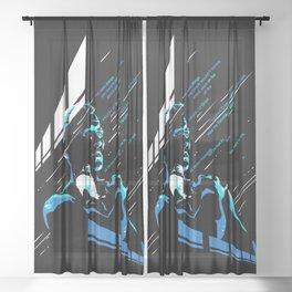 like tears in rain Sheer Curtain