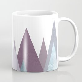 PLUM TURQUOISE MOUNTAINS GEOMETRIC Coffee Mug