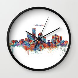 Milwaukee Skyline Wall Clock