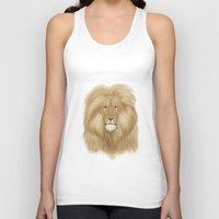 lion king Tank Tops featuring king lion by Ewa Pacia