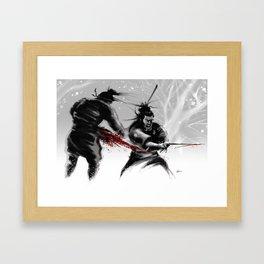 Samurai fight Framed Art Print