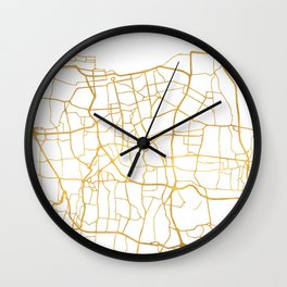 JAKARTA INDONESIA CITY STREET MAP ART Wall Clock