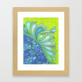 Aqua Splash Framed Art Print