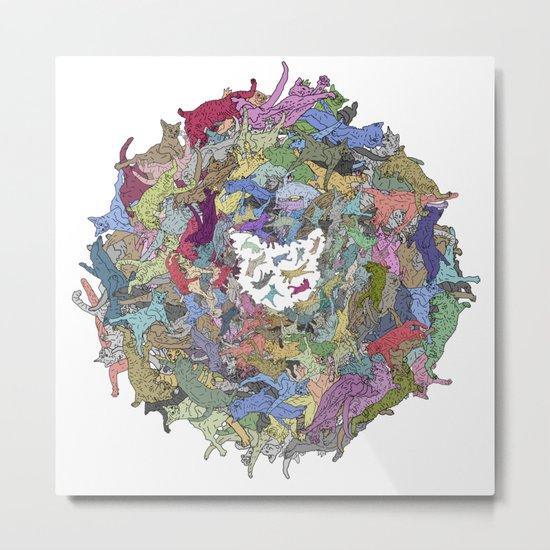 Cats Donut Galaxy - Rainbow Earth Metal Print