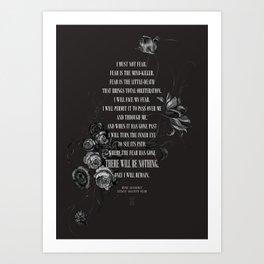 Bene Gesserit Litany Against Fear Art Print