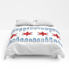 Fully Loaded Chicago Flag Comforters
