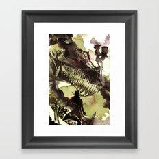 Steampunk Dragon Framed Art Print