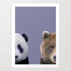 Panda & Bear Art Print