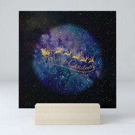 Santa Claus on Milky Way Mini Art Print
