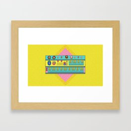 Psychedelic synth Framed Art Print