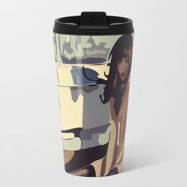 Lonely woman Travel Mug