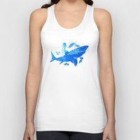 shark Tank Tops featuring Shark by Corina Rivera Designs