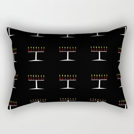 menorah 6,Hanukkah,jewish,jew,judaism,Festival of Lights,Dedication,jerusalem,lampstand,Temple, מְנו Rectangular Pillow