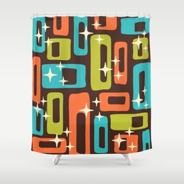 Retro Mid Century Modern Abstract Pattern 632 Shower Curtain