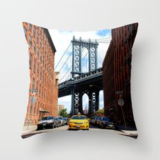That Brooklyn View - The Empire Peek Throw Pillow