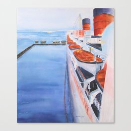 Queen Mary from the Bridge Canvas Print