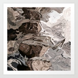 Brownskin texture Art Print
