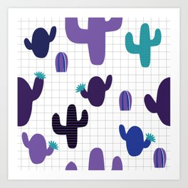 Cactus purple #homedecor Art Print