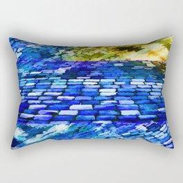 CobbleStone in Blue Oil Rectangular Pillow