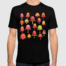 Jellies on Plates Mens Fitted Tee MEDIUM Black