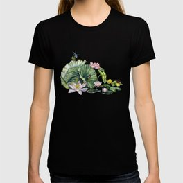 Japanese Water Lilies and Lotus Flowers T-shirt