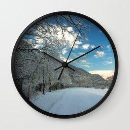 Sky & Snow Wall Clock