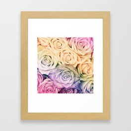 Some people grumble - Colorful Roses - Rose pattern Framed Art Print