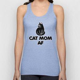 Cat mom AF Unisex Tank Top