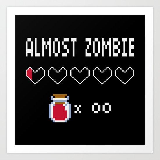 Almost Zombie Art Print