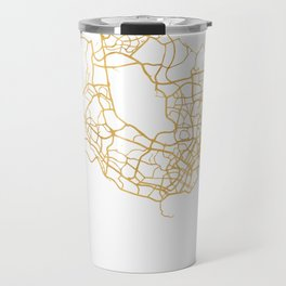 SINGAPORE CITY STREET MAP ART Travel Mug