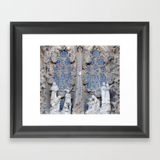 Sagrada Família, Barcelona (detail) Framed Art Print