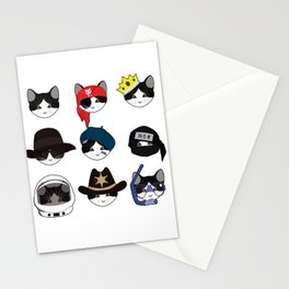 A Cat Living Nine Lives Stationery Cards