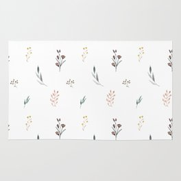 Little botanics pastel pattern Rug