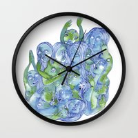dragon ball Wall Clocks featuring Ball by Clara López