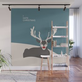 I hate Christmas Wall Mural