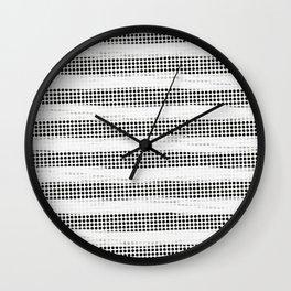 Black Diamonds Gross Stripes /Strokes/Lines Wall Clock