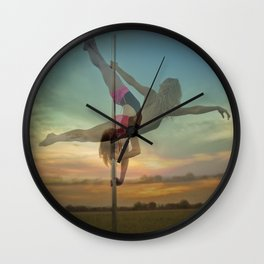 Pole Moves Wall Clock