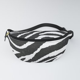 ANIMAL PRINT ZEBRA GRAY RUSTIC Fanny Pack