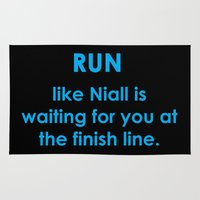 niall Area & Throw Rugs featuring Run like Niall by Alexbookpages