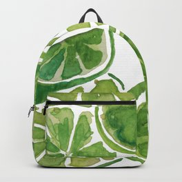 Watercolor LIMES Backpack