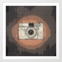 vintage camera Art Prints featuring Camera by Mr & Mrs Quirynen