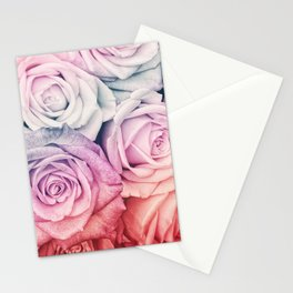 Some people grumble II  Floral rose flowers pink and multicolor Stationery Cards