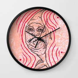 "Weird Fish Guy is So Over It (""Over It"") Wall Clock"