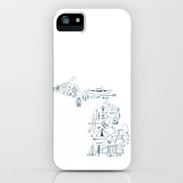 Michigan Up North Collage iPhone Case