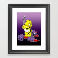 Kill Bill Bear Framed Art Print