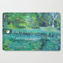 Green and blue Cutting Board