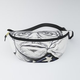 Snowden Artistic Illustration Pencil draw Style Fanny Pack
