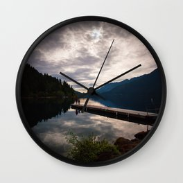 lake crescent, olympic national park. washington Wall Clock