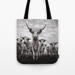 Highland Cattle Mixed Breed Mono Tote Bag