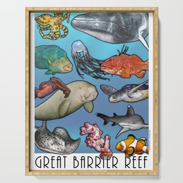 Great Barrier Reef Serving Tray